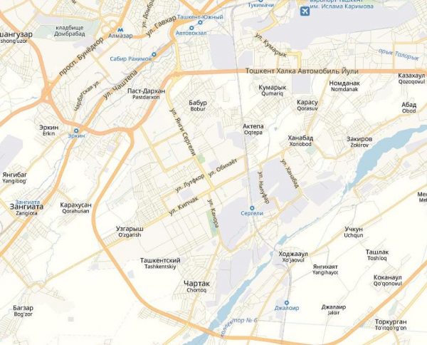 Территорию Ташкента расширят за счет Зангиаты