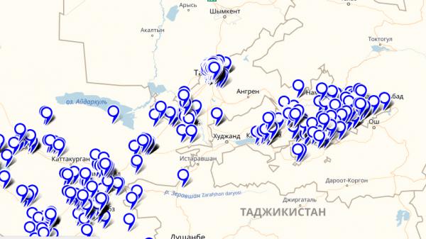 Создана интерактивная карта Узбекистана для поиска санитарно-гигиенических узлов
