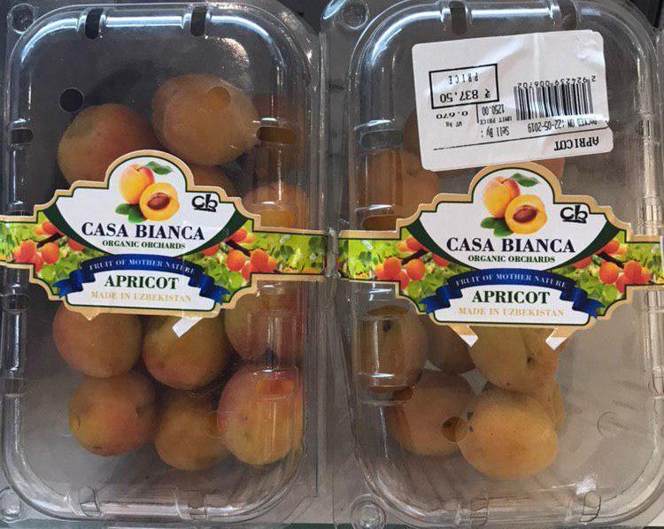 Абрикосы из Намангана появились на прилавках гипермаркетов Индии