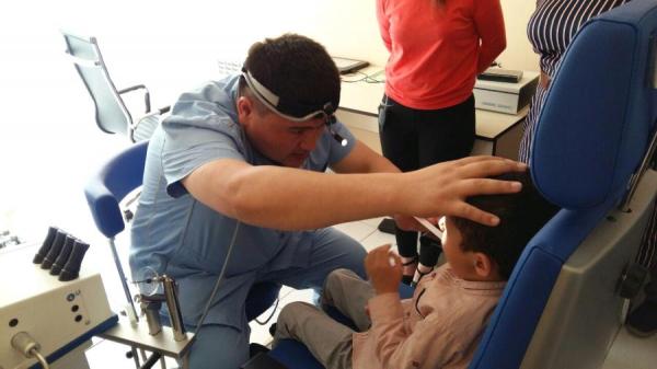 В Алмазарском районе прошла благотворительная акция по диагностике детей из малообеспеченных семей