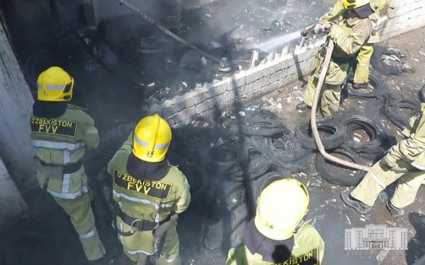 В воскресенье в Ташкенте произошло 15 пожаров (видео)