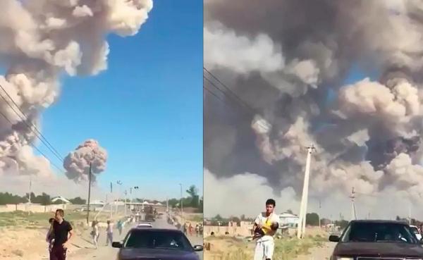 Мощные взрывы произошли на юге Казахстана: город Арысь экстренно эвакуируют (видео)