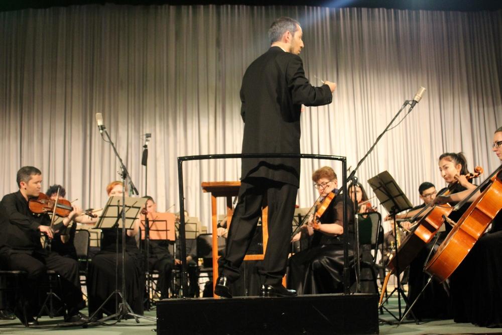 Ян Сибелиус на сцене Большого зала консерватории