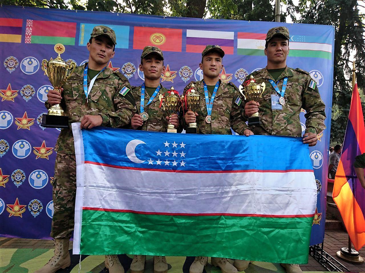 Команда курсантов Узбекистана заняла третье место на международных соревнованиях в Алматы