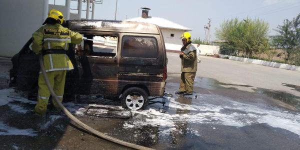 За день в Узбекистане загорелись две газозаправочные станции