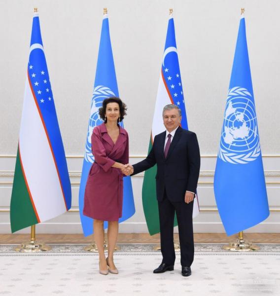 Президент принял Генерального директора ЮНЕСКО Одри Азуле