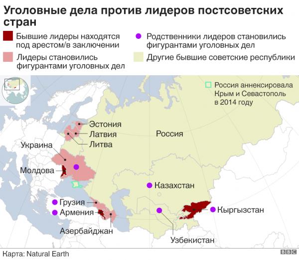 Клуб обвиняемых: уголовные дела против постсоветских лидеров