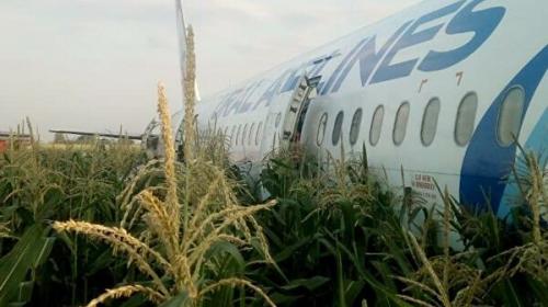 В результате жесткой посадки А321 в Жуковском госпитализировали 23 человека. Видео