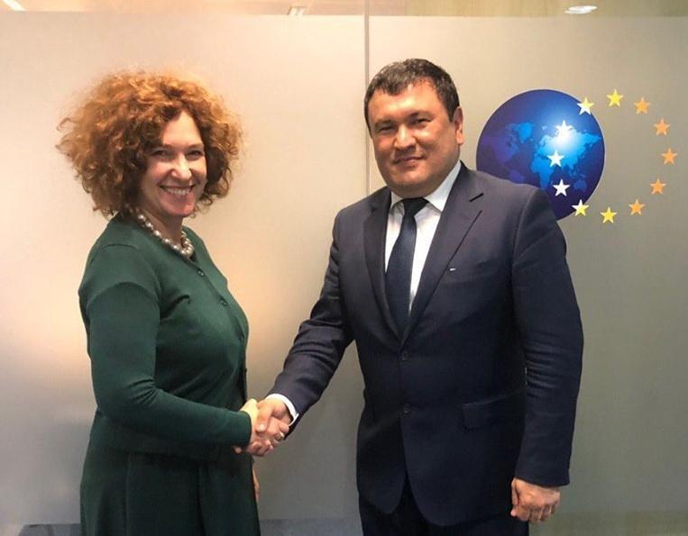 В Брюсселе прошла встреча посла ЕС с главой Агентства «Узатом» Журабеком Мирзамахмудовым