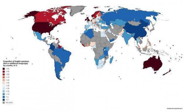 Сколько людей знает английский язык. Узбекистану есть к кому стремиться