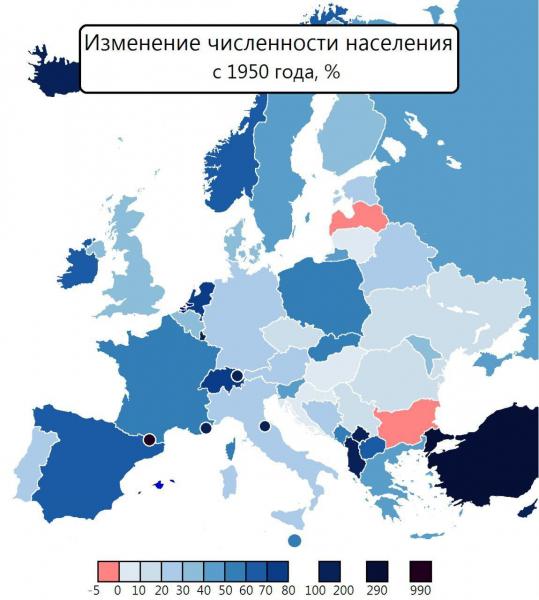Послевоенная демография Европы