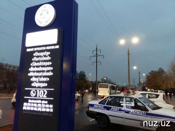 В Ташкенте инспектор ДПС на служебном автомобиле сбил пешехода