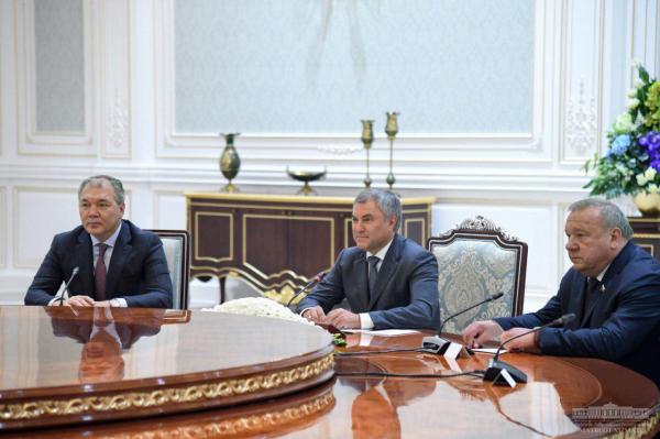 Президент принял председателя российской Государственной думы Вячеслава Володина