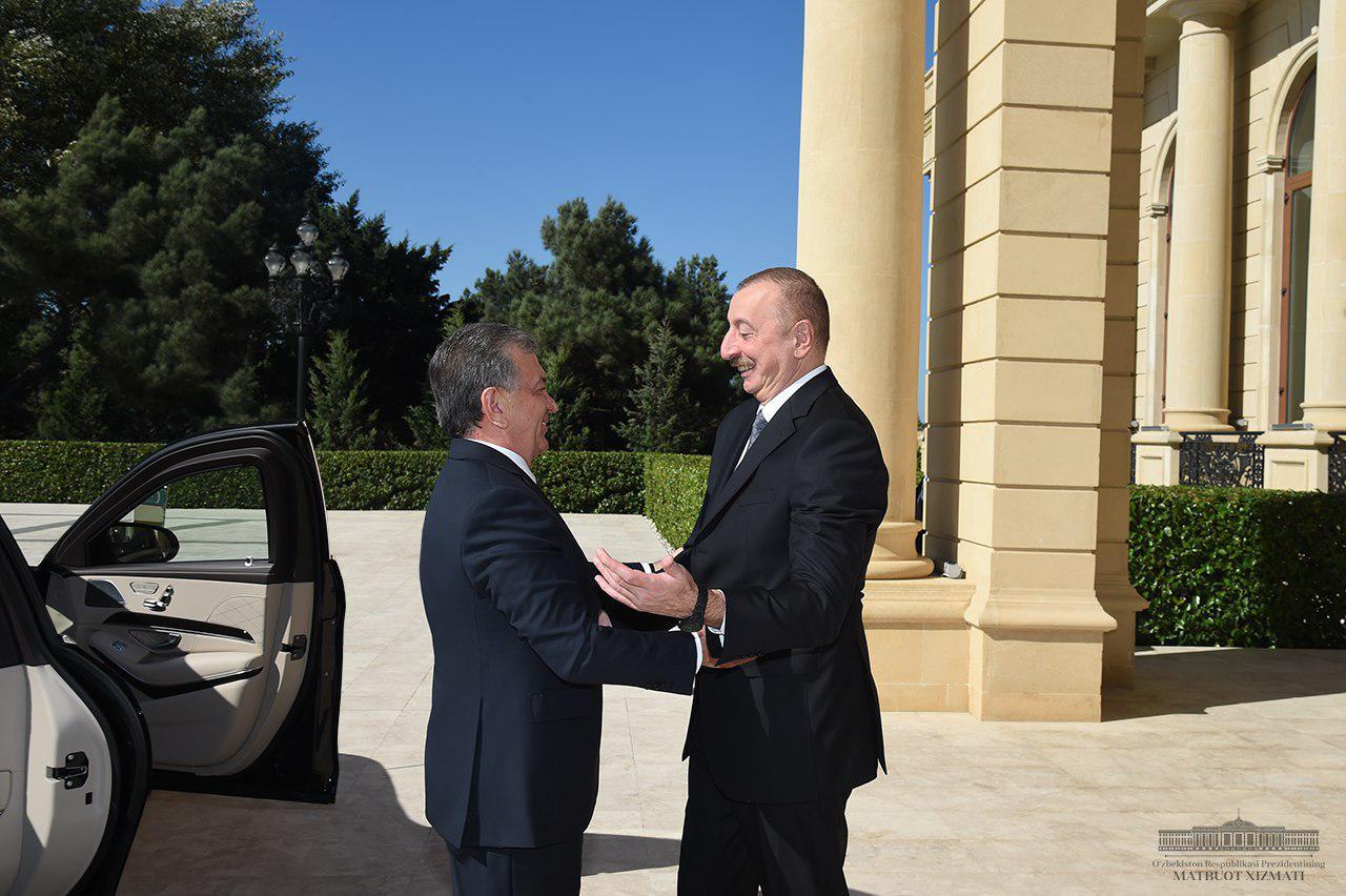 Состоялась встреча Президентов Узбекистана и Азербайджана
