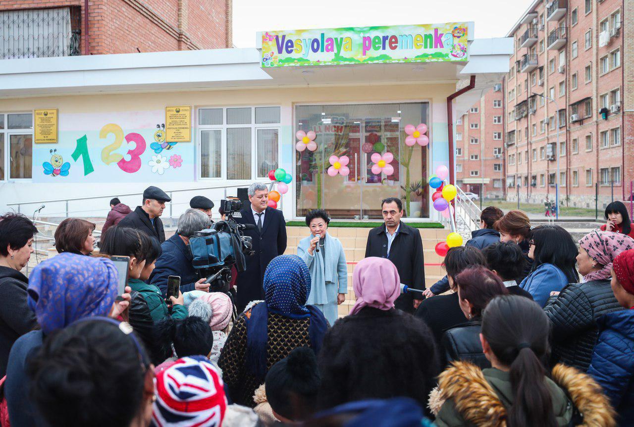 Министр дошкольного образования Агриппина Шин открыла два ДОО в Сергелийском районе столицы