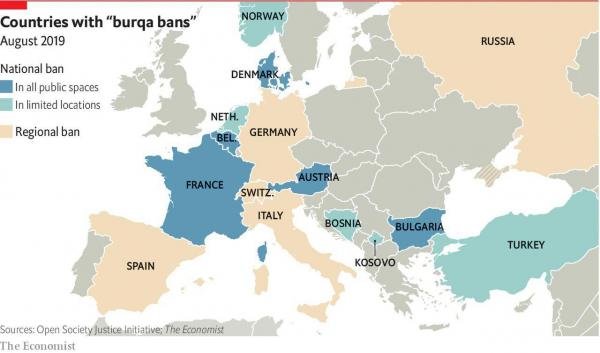 Паранджа в Европе