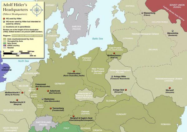 Немного истории. Штаб-квартиры Адольфа Гитлера в оккупированной Европе