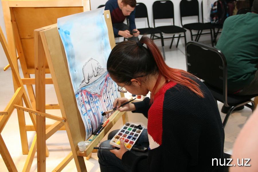 Первый в Узбекистане Арт-баттл среди молодых художников прошел в Ташкенте (фото)