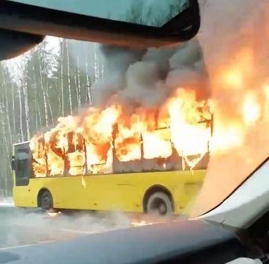 В Петербурге 50 человек спаслись из горящего автобуса благодаря водителю-узбекистанцу