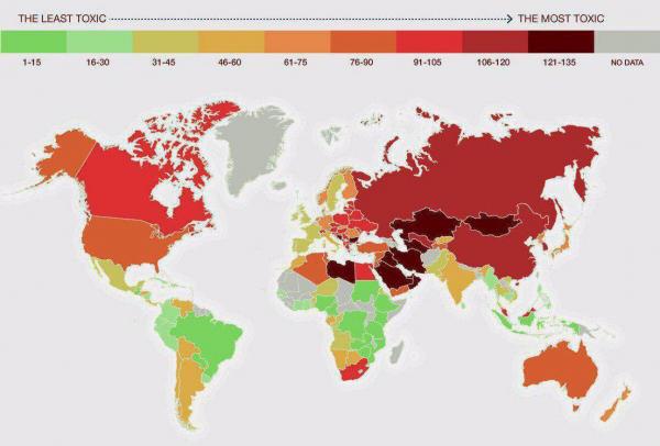 Самые загрязненные страны мира