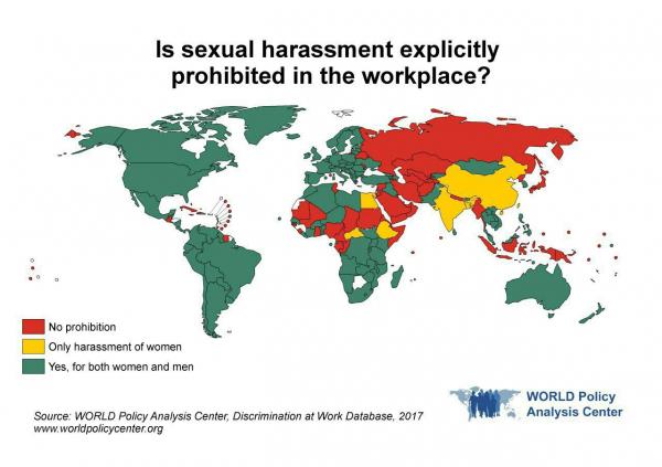 В каких странах запрещено сексуальное домогательство на рабочем месте