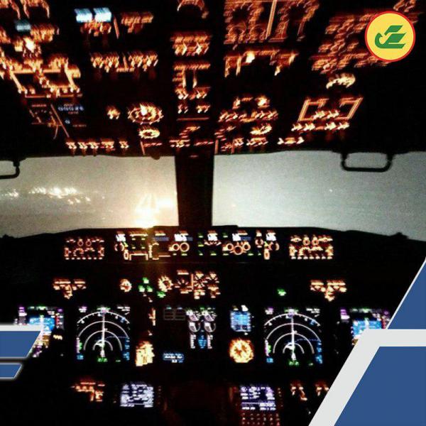 «Глазами пилота»: в Uzbekistan Airways  показали, как выглядит взлётно-посадочная полоса в тумане из кабины самолёта
