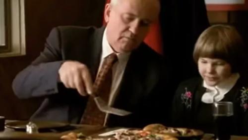 Горбачёв нега пиццани реклама қилган? (видео)