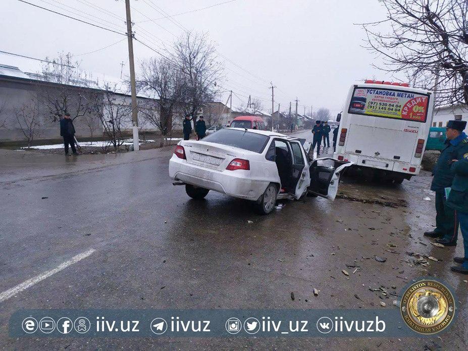 Вследствие аварии Nexia и Isuzu один человек погиб, трое пострадали