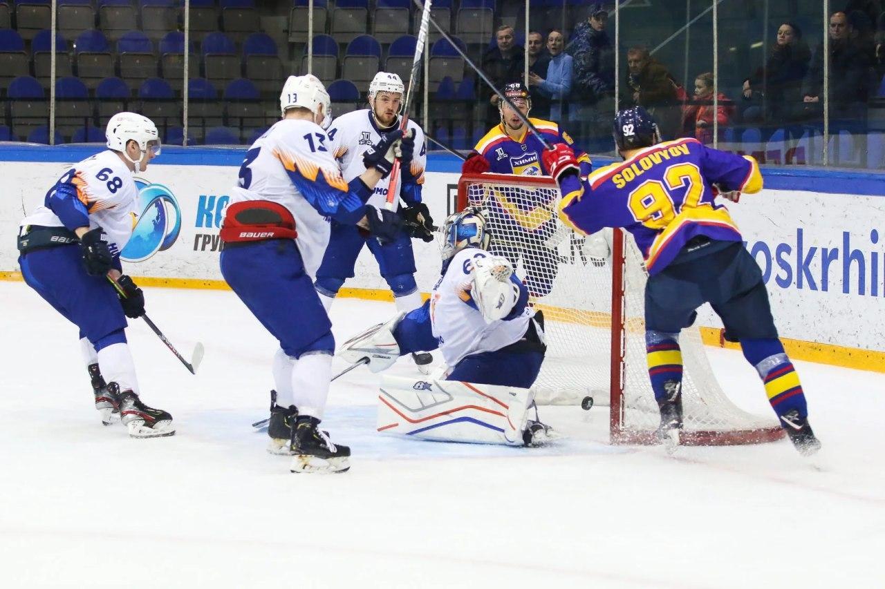 Александр Щербина в Воскресенске отличился дважды, но этого не хватило для победы над «Химиком»