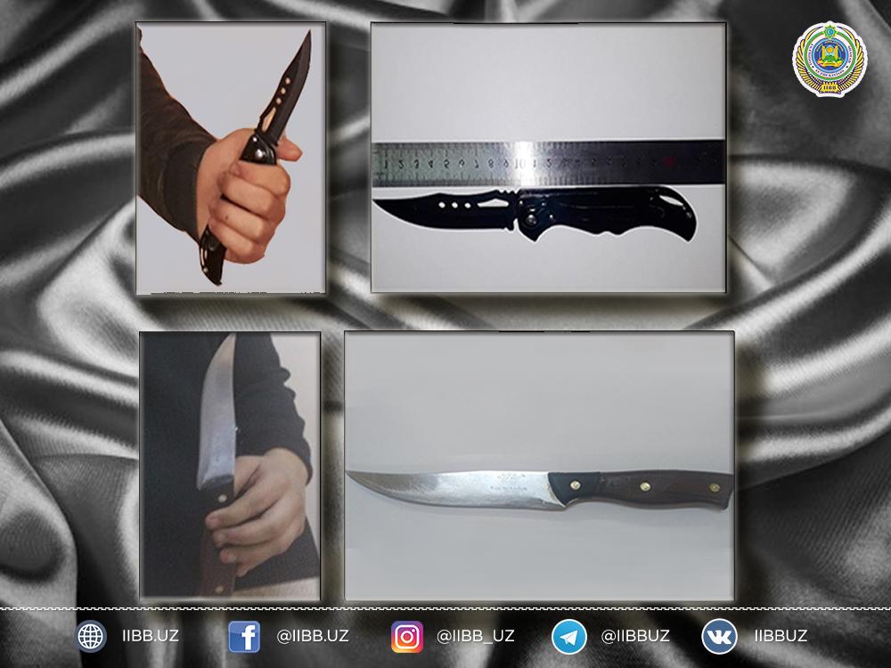 За 10 дней у школьников Ташкента были изъяты 7 ножей