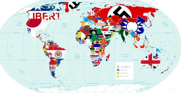Карта последних вторжений, по современным границам