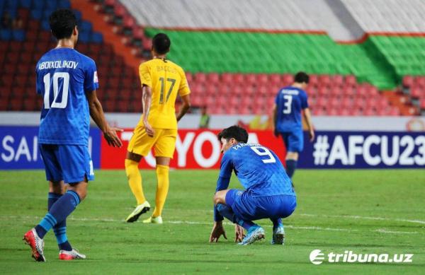 Молодежная футбольная сборная проиграла матч за олимпийскую путевку