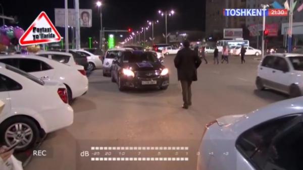 Водитель «Малибу 2» с рекламой Crafers заявил, что нарушает правила парковки по поручению Джахонгира Артыкходжаева (видео)