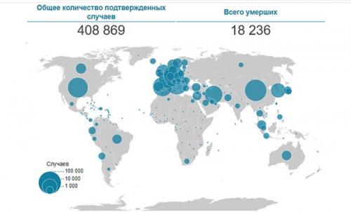 Пандемия: статистика по Covid-19 на утро 25 марта