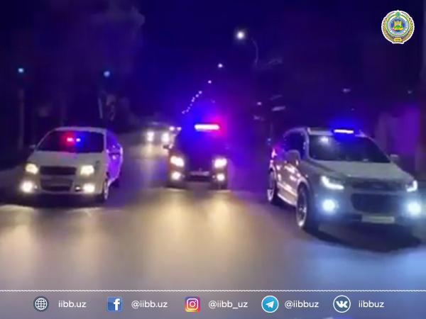 Гонки трех автомобилей с мигалками на Малой кольцевой оказались рекламой ташкентского автоэлектрика